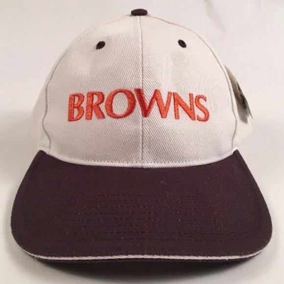 be5002cb956 Vtg 90s NFL NOS Snapback CLEVELAND BROWNS HAT